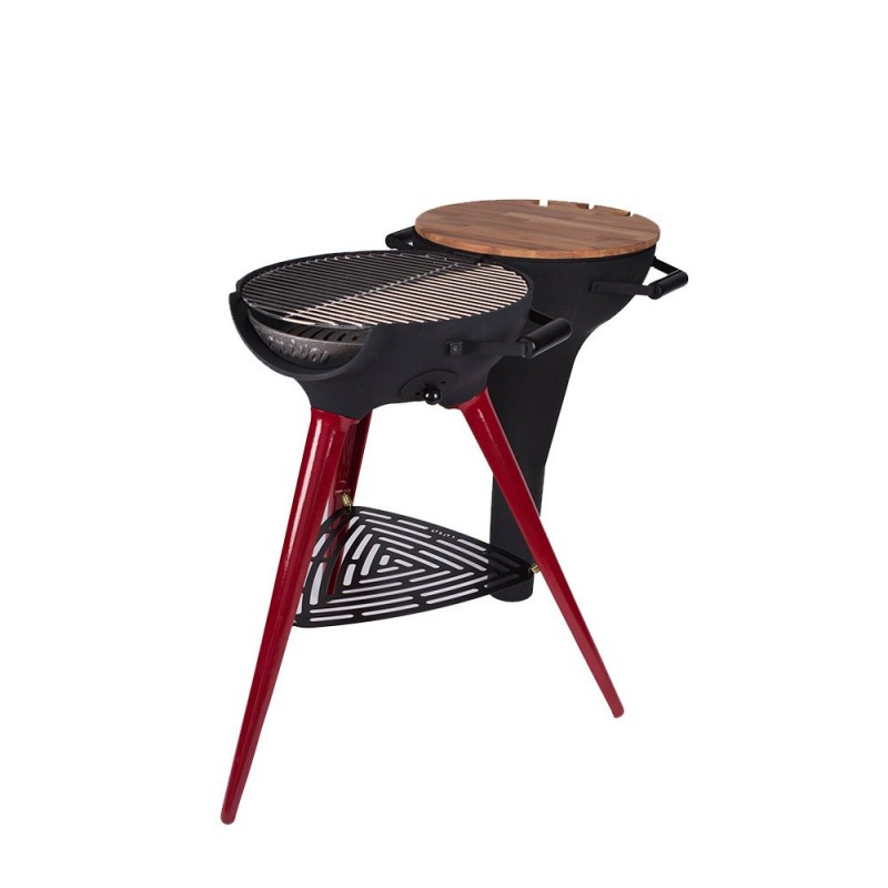 COSA BARBECUE Metal Long Foot Red