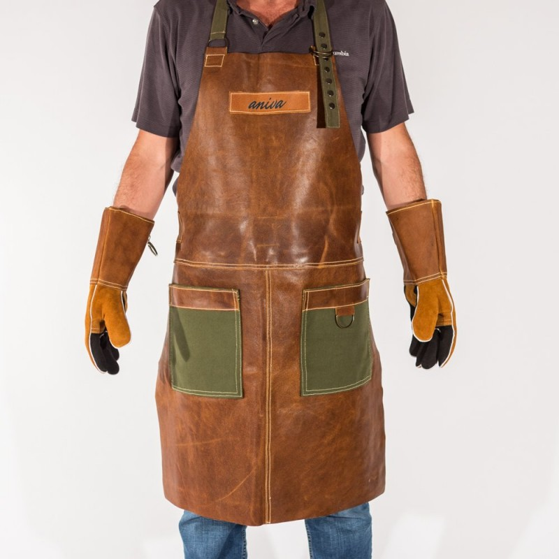 Leather Apron and Gloves