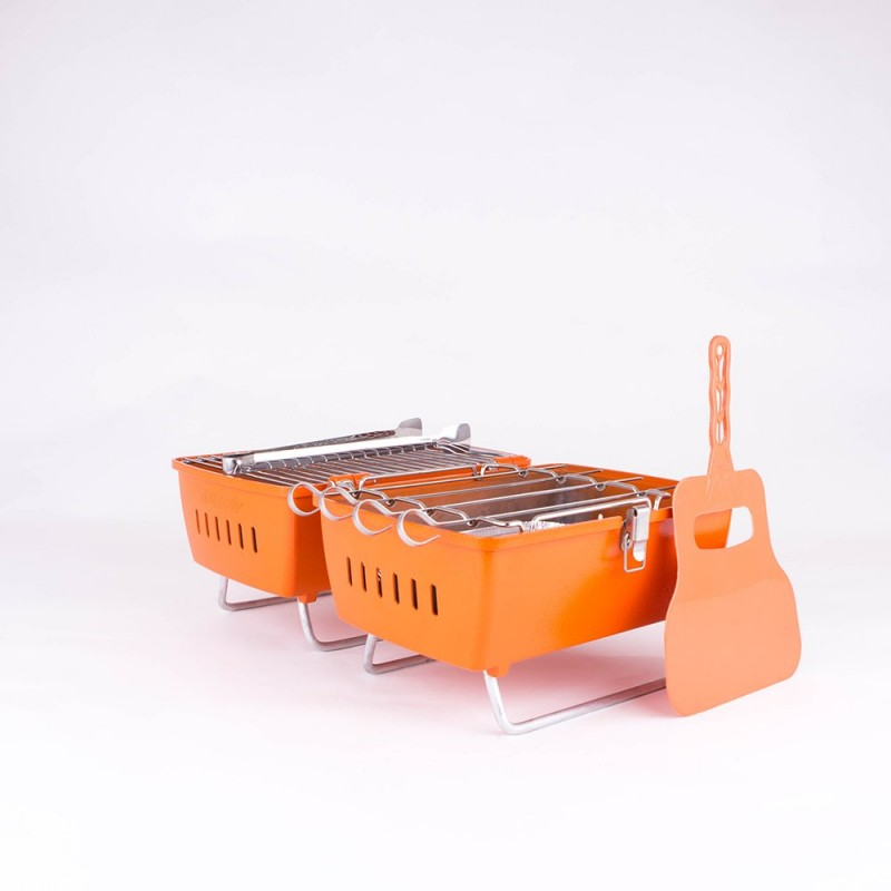 Prtk bbq ORANGE with accesorie set